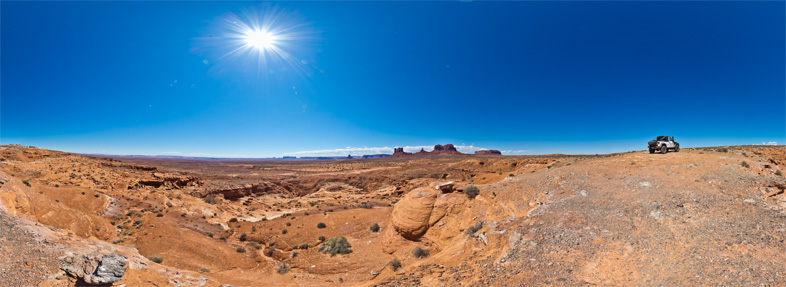 360° x 180° East of Monument Valley